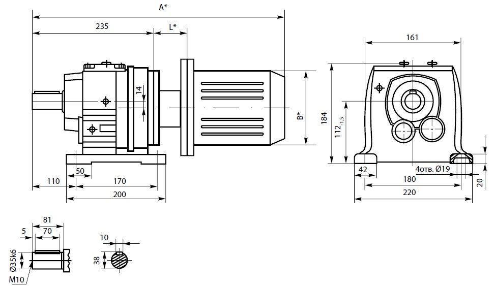 Габаритный чертеж 3МПз40