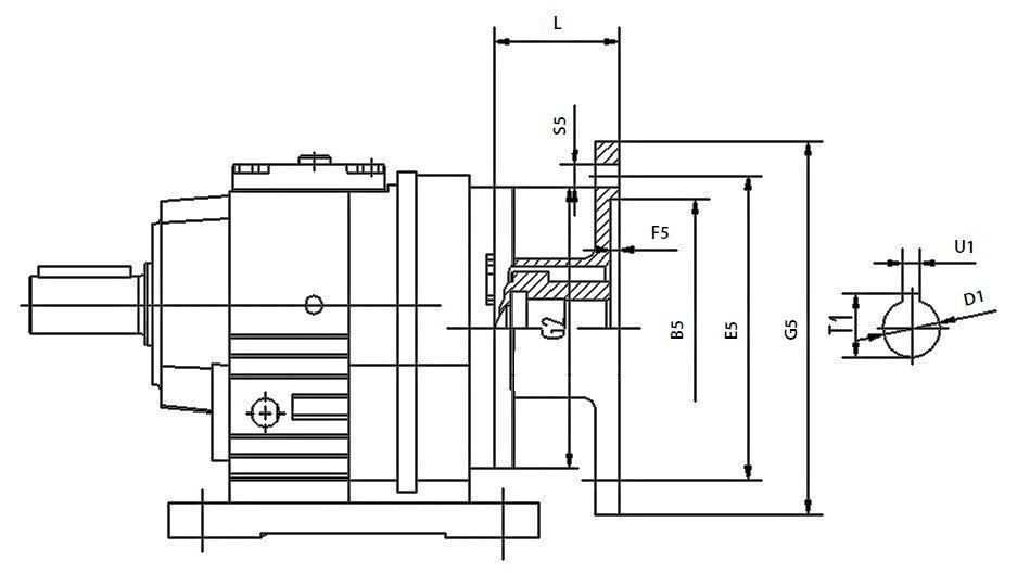 фланец для монтажа двигателей IEC