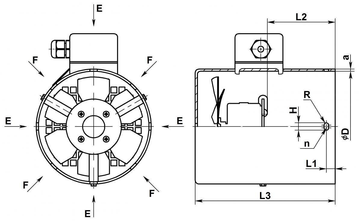 Электровентиляторы принудительного охлаждения - схема