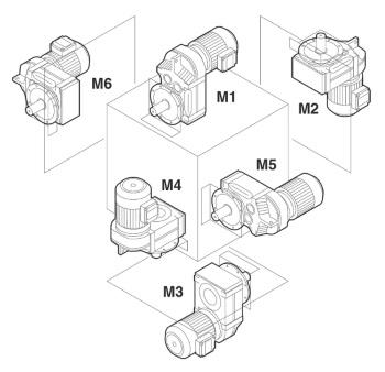 Схема монтажа мотор-редуктора F