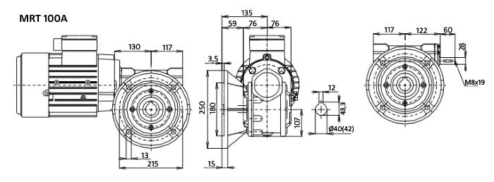 Чертежи мотор-редуктора MRT 100