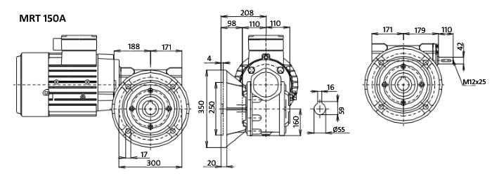 Чертежи мотор-редуктора MRT 150