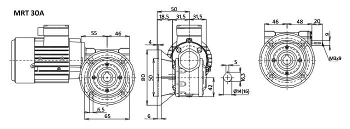 Чертежи мотор-редуктора MRT 30