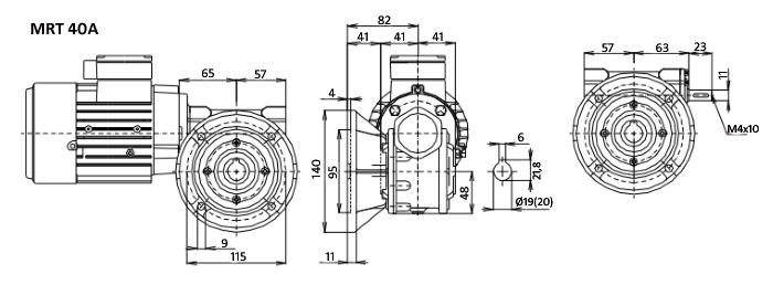 Чертежи мотор-редуктора MRT 40