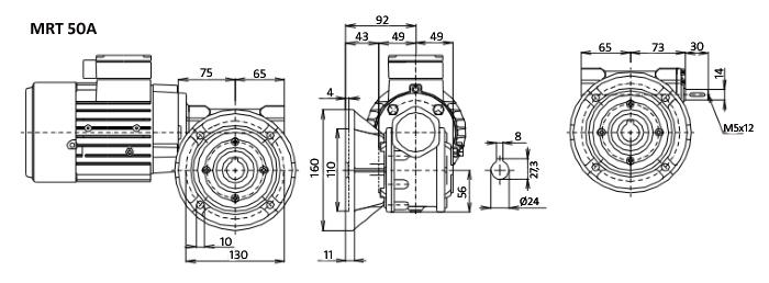 Чертежи мотор-редуктора MRT 50
