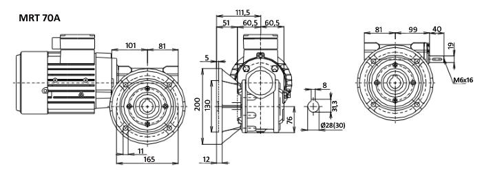 Чертежи мотор-редуктора MRT 70