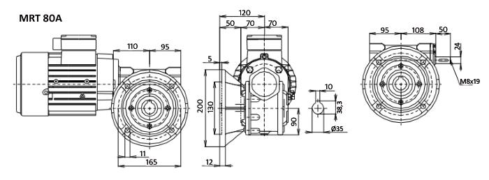 Чертежи мотор-редуктора MRT 80