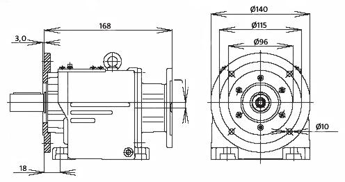 Мотор-редуктор MTC 22A