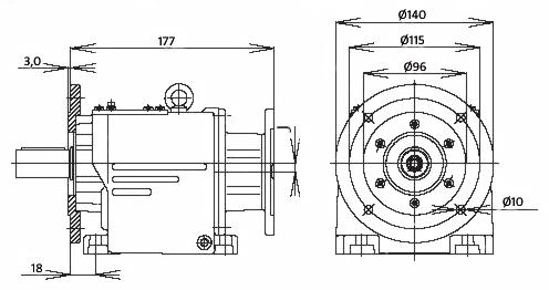 Мотор-редуктор MTC 23A