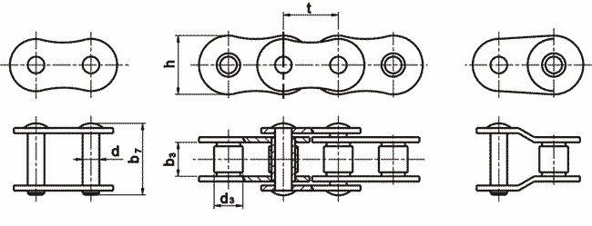 Приводная роликовая цепь ПР