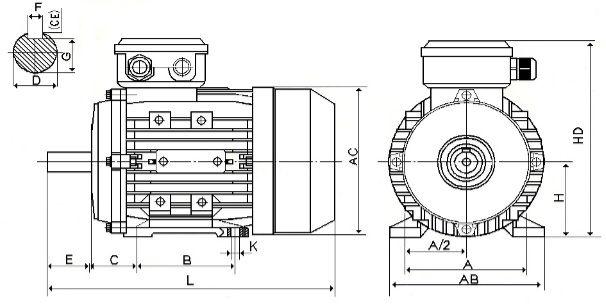 Размеры оборудования