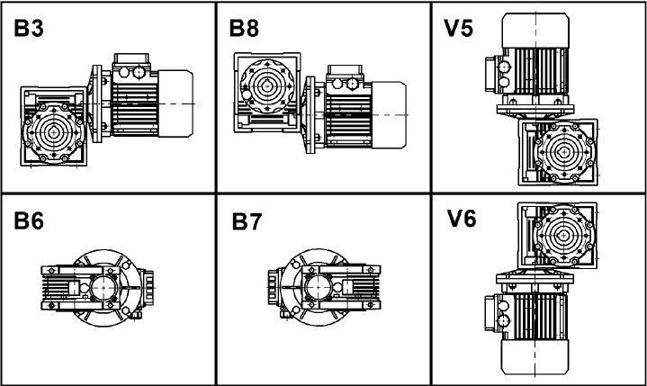 Монтажные позиции NMRV