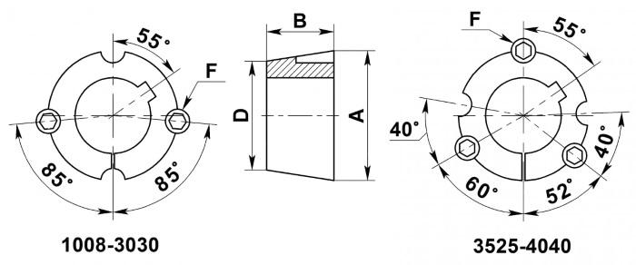 Размеры втулок тапербуш и таперлок
