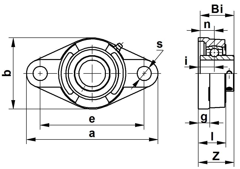 Тип UCF 200 фланцевый