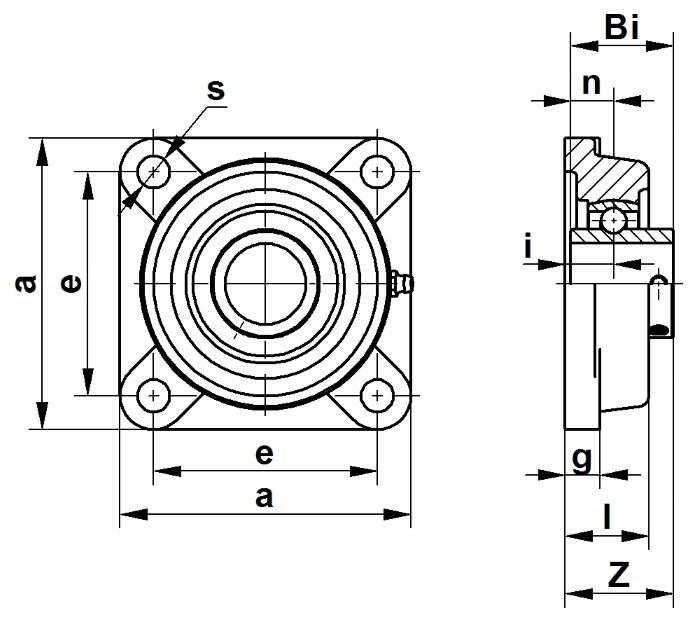 Подшипниковые узлы UCF с квадратным фланцем