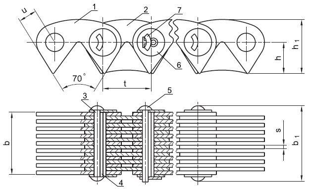 Схема зубчатой цепи